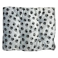 See more information about the Pet Bed - 90x70cm Polar Fleece - Grey Paw Print