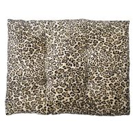See more information about the Pet Bed - 90x70cm Polar Fleece - Light Brown Animal Print