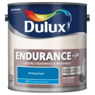See more information about the Dulux Striking Cyan Matt 2.5L Endurance Paint