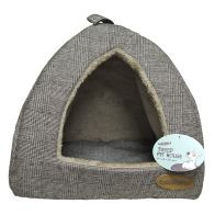 See more information about the Pet House Tweed 38x38x29cm - Brown Check