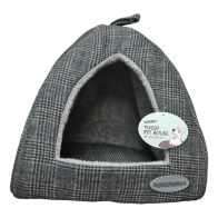 See more information about the Pet House Tweed 38x38x29cm - Black Check