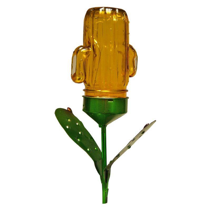 Bright Garden Solar Powered Cactus Plant Light Stake - Yellow