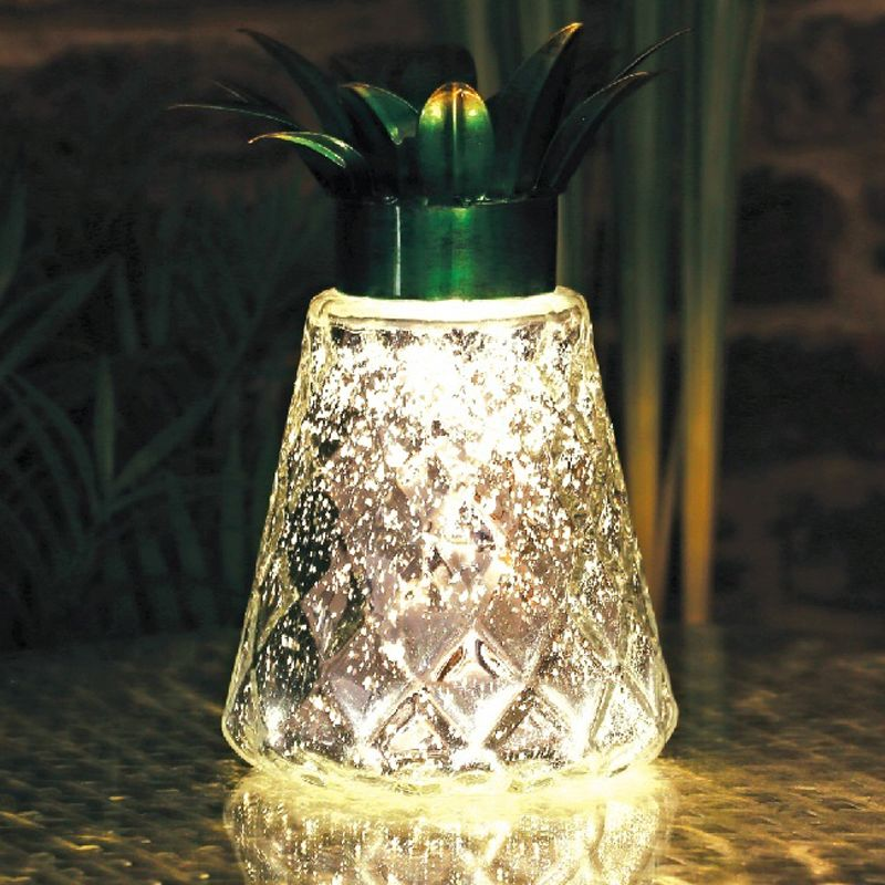 Bright Garden Solar Pineapple Table Light