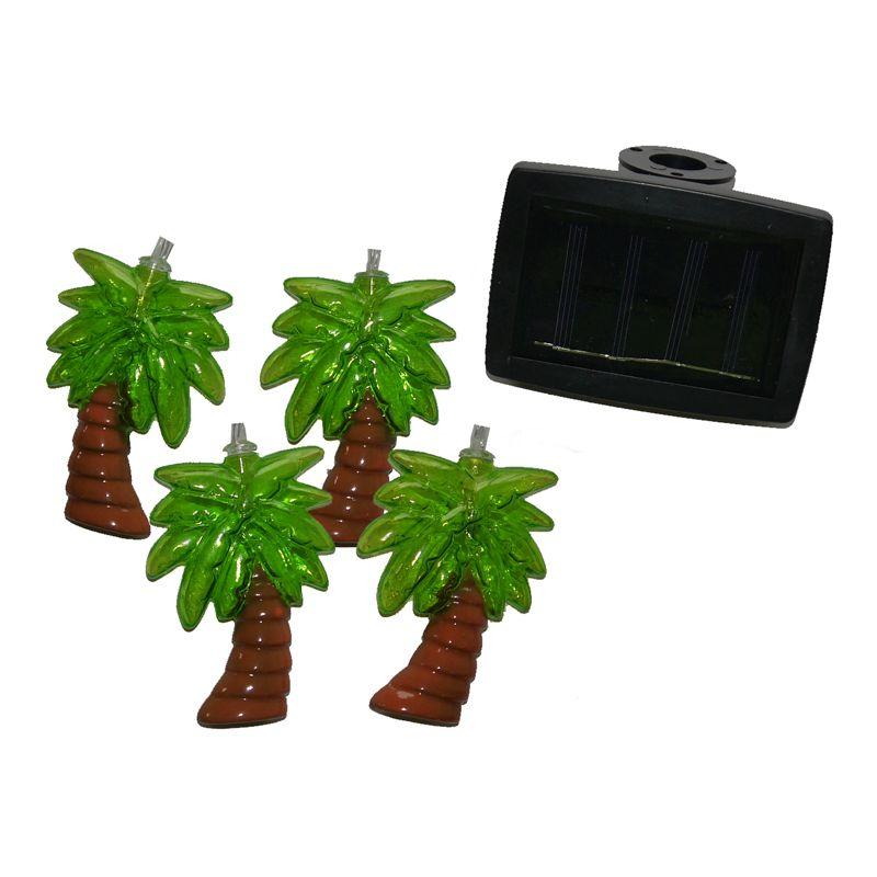 Bright July Diy Outdoor String Lights: Bright Garden 10 Solar Palm Tree String Lights