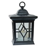 See more information about the Bright Garden Flickering Candle Solar Lantern LED Black