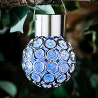 See more information about the Bright Garden Solar Hanging Gem Light