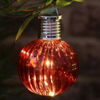 See more information about the Bright Garden Solar Glass Bulb Light - Red
