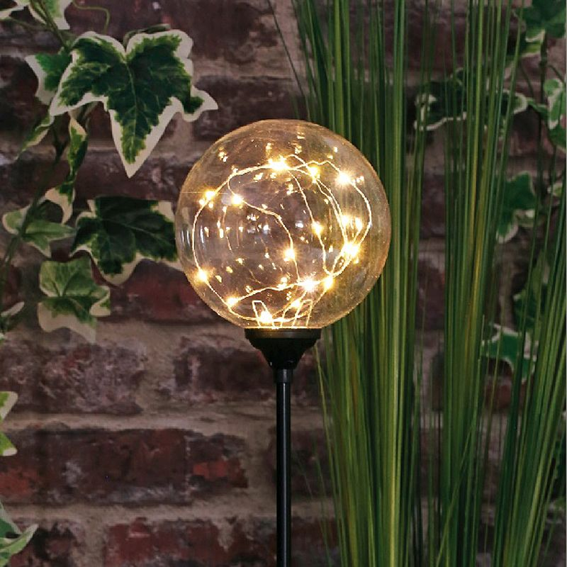 Bright Garden Solar Firefly Orb Light