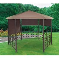 See more information about the Croft Replacement Cover for Hexagonal Gazebo Brown