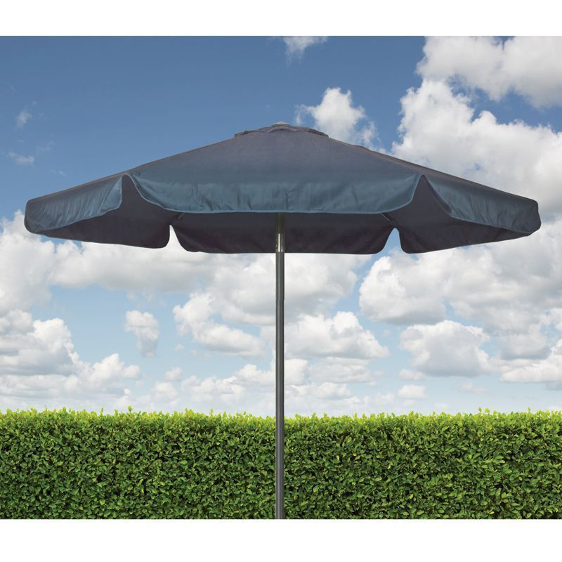 Croft Blue 2.2m Three Position Tilt Aluminium Outdoor Garden Parasol