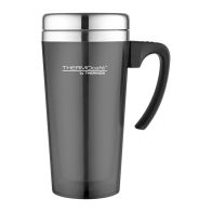 See more information about the Thermos Translucent Travel Mug (420ml) - Gun Metal