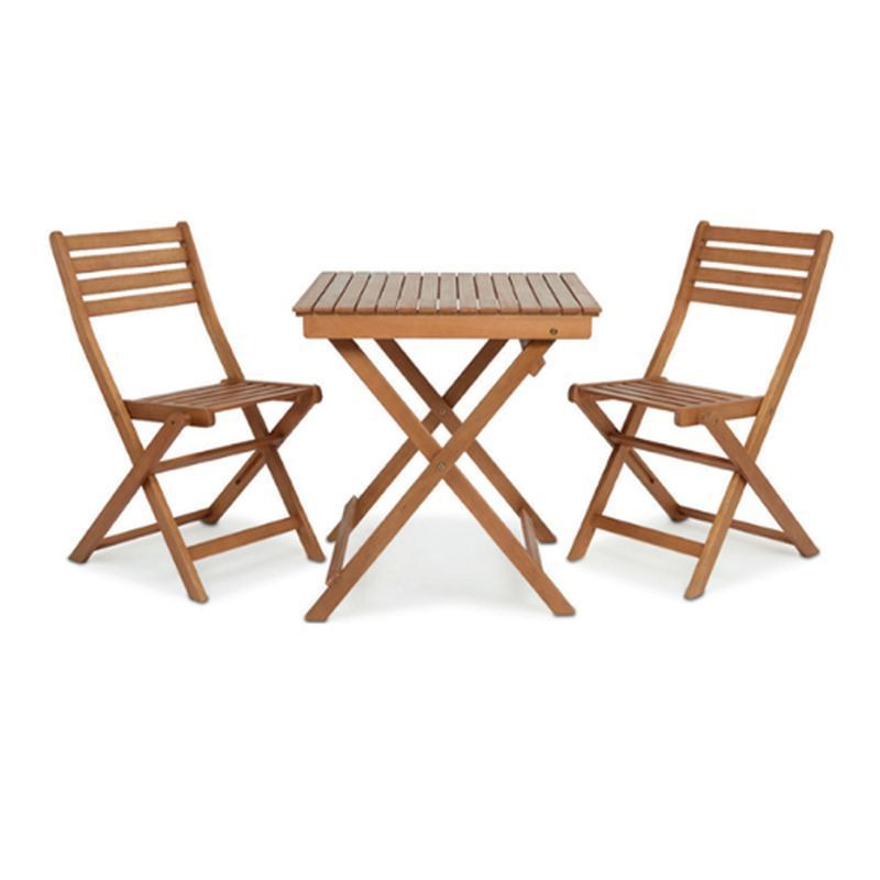 2 Person Wooden Bistro Set