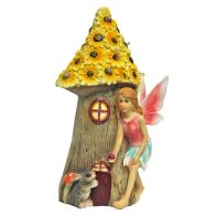See more information about the Magical Garden Solar Powered Woodland Fairy House - Yellow