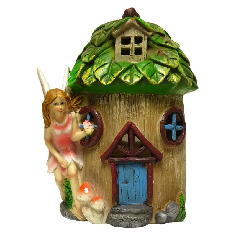 Magical Garden Solar Powered Woodland Treehouse - Blue Door