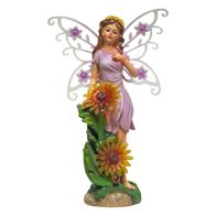 See more information about the Magical Garden Solar Powered Woodland Flower Fairy - Purple