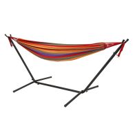 See more information about the Multi-coloured Garden Hammock With Stand