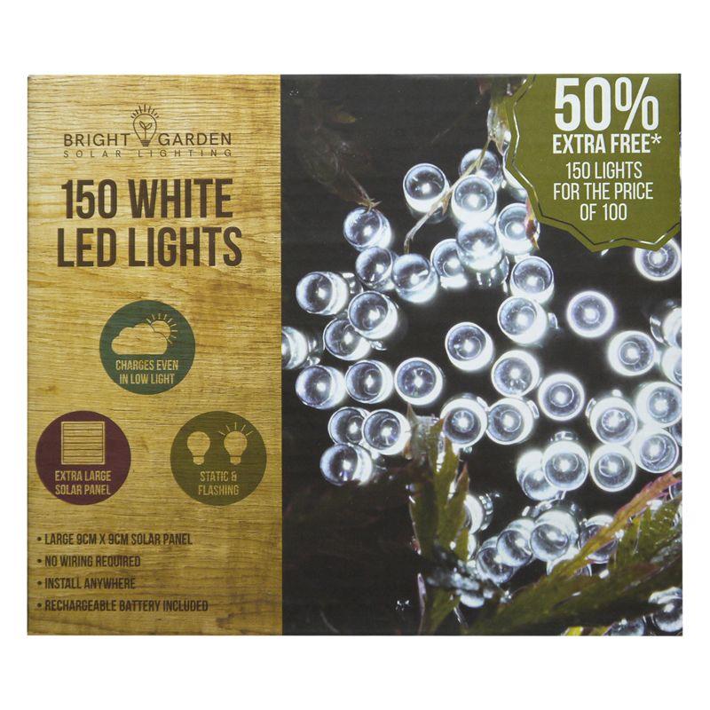 Bright Garden 100pk Cool White Solar Lights 50 Free