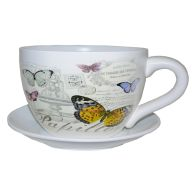 See more information about the Decorative Tea Cup Planter Butterfly