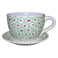 See more information about the Decorative Tea Cup Planter Floral