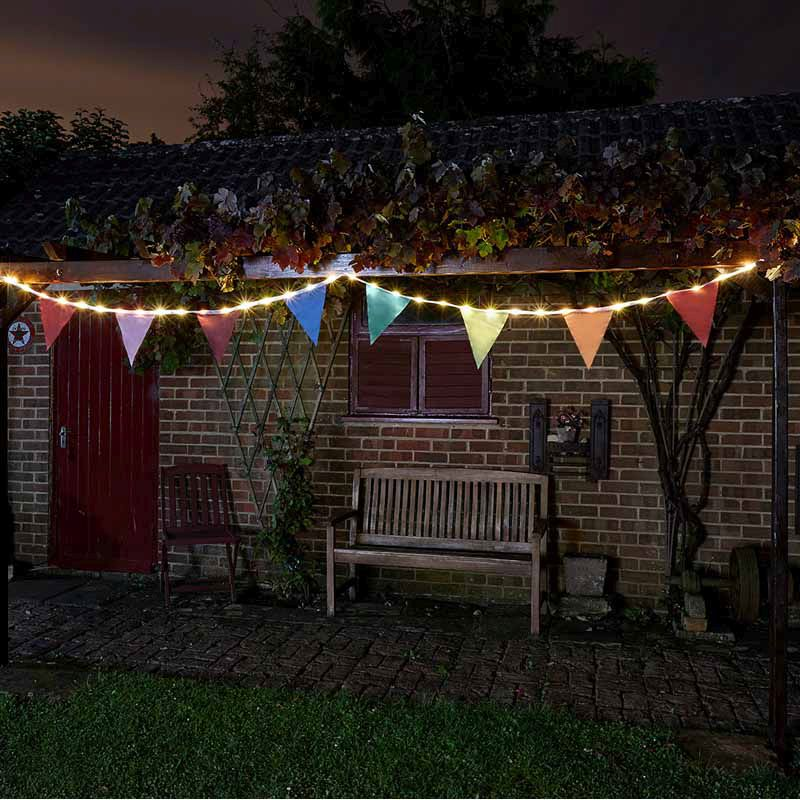 Bright Garden Solar Bunting With 10 Flags