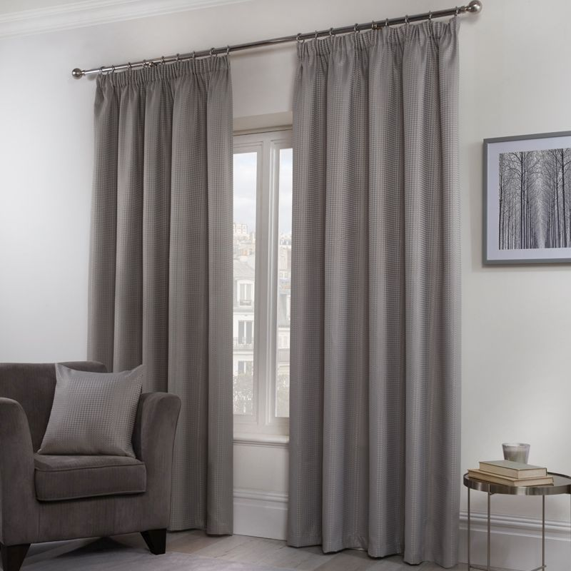Hamilton McBride Honeycomb Curtains Grey 66 x 72cm