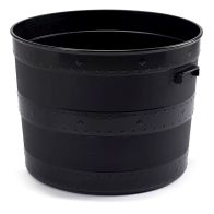 See more information about the Large Blacksmith Style Tub Garden Planter Black