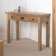 See more information about the Cotswold Dressing Table Oak 3 Drawer