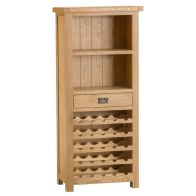See more information about the Cotswold Oak Home Wine Rack Cabinet Furniture