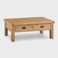 See more information about the Cotswold Large Coffee Table Oak 2 Drawer