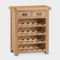 See more information about the Cotswold Wine Rack Oak 4 Shelf 2 Drawer