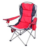 See more information about the Luxury Padded Camping Chair with Drink Pocket - Red