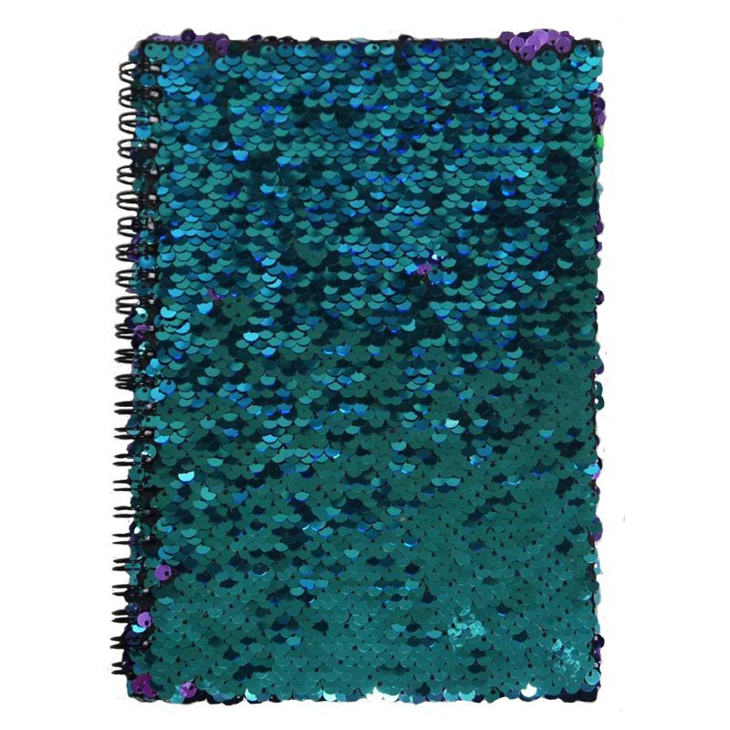 A5 Spiral Sequin Colour Change Notebook