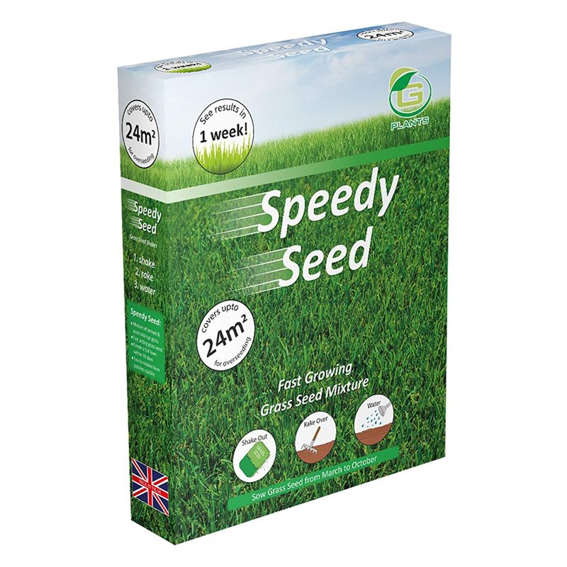 400g G Plants Speedy Grass Seed 24 Square Meters Coverage
