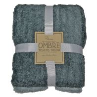 See more information about the Your Home Toastie 130x170 Fleece Ombre Grey Throw
