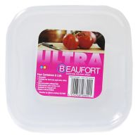 See more information about the Beaufort Pack of 4 1.25 Litre Square Food Containers