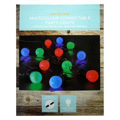 Bright Summer 20 Light Multicolour LED Connectable Party Lights