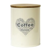 See more information about the Coffee Heart Design Storage Jar Tin With Bamboo Lid