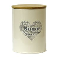 See more information about the Sugar Heart Design Storage Jar Tin With Bamboo Lid