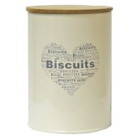 See more information about the Biscuit Heart Design Storage Jar Tin With Bamboo Lid