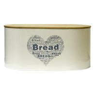 See more information about the Bread Heart Storage Design Jar Tin With Bamboo Lid