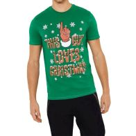 See more information about the Mens This Guy Christmas T-Shirt Green Small