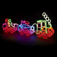 See more information about the LED Multicolour Christmas Train Rope Light