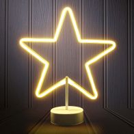 See more information about the LED Warm White Star Neon Christmas Light