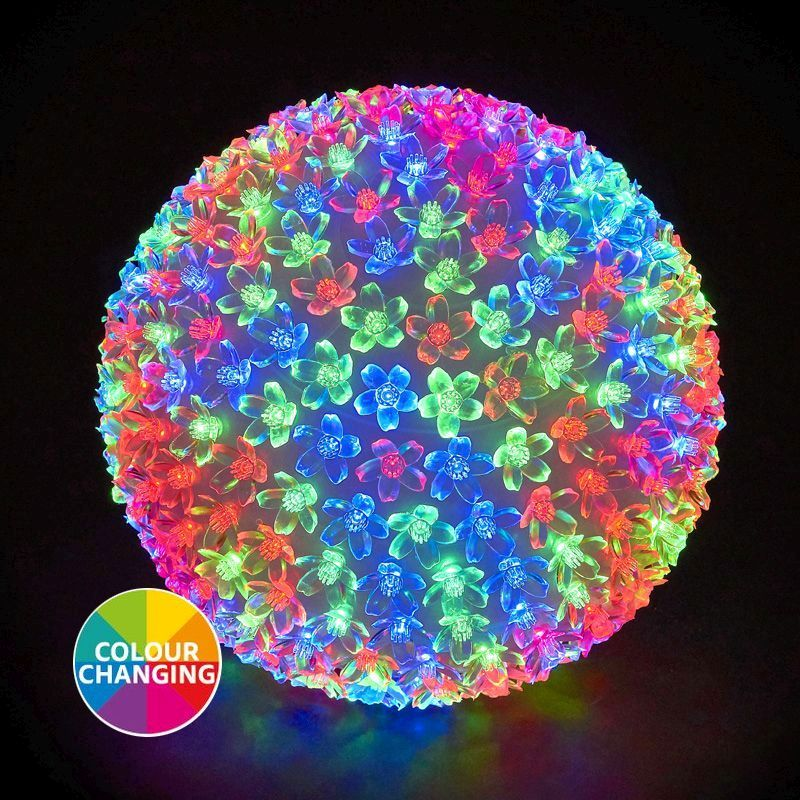 300 LED Multicolur Outdoor Animated Cherry Ball Light Mains 25cm