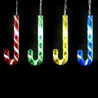 See more information about the 8 LED Multicoloured Outdoor Animated Candy Cane Battery 2m
