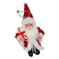 See more information about the Standing Santa Christmas Tree Ornament 13cm - Red