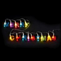 See more information about the 14 LED Multicolur Indoor Merry Christmas Glitter Light Battery 98cm