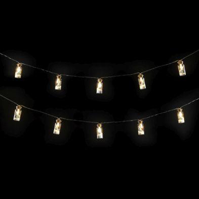 10 LED Warm White Indoor Glass Bottle Battery String Light 1.5m