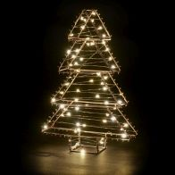 See more information about the 60 LED White Indoor Static Copper Tree Christmas Light Battery 30cm