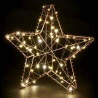 See more information about the 60 LED Copper Outdoor Static Metal Star Light Battery 30cm